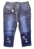 Джинсовые брюки на флисе  для девочек оптом, Seagull  6-36 мес., арт. CSQ-89709