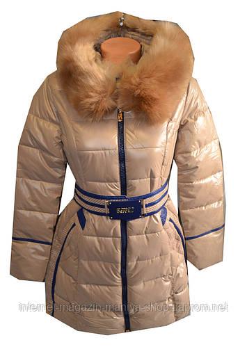 Куртка женская зима натуральный мех