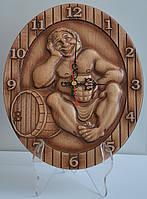 """Часы настенные из дерева """"Сауна"""""""