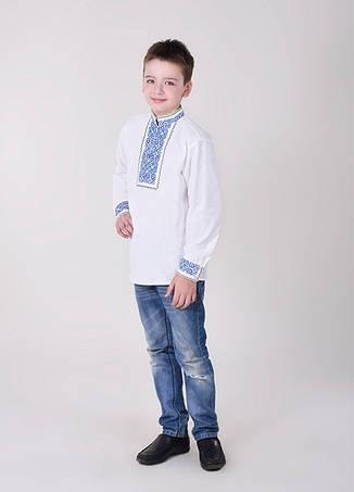 Рубашка с синей вышивкой, фото 2