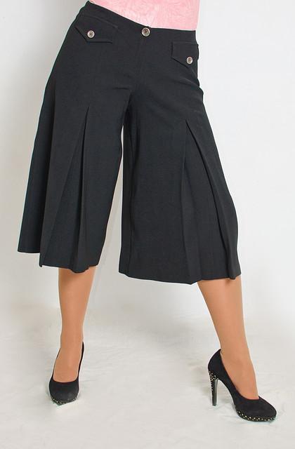 Юбка-брюки женская черная ( Ю 029)