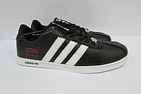 Женские кроссовки Adidas Gazelle черные (677) код 0164А
