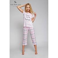 Женская пижама с клетчатыми бриджами Piżama Kiss Me  Sensis