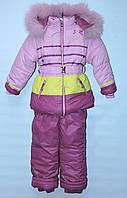 Зимний комбинезон тройка для девочки 1-5 лет H&O