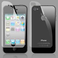 Защитная пленка для Iphone 4 перед/зад, 3 пары