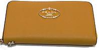 Женский кошелек барсетка Prada 78-2804 бежевый кожзам