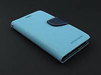 Чехол книжка Goospery для Samsung Galaxy S6 G920f голубой