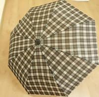Клетчатый женский зонт Star Rain механика, 3 сложения, 8 спиц