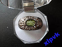Кольцо Хризолит-Перидот.Овал 9х6 мм- 18.8р-925-ИНДИЯ-Унисекс
