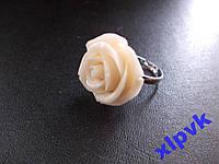 Кольцо Белый Коралл,Роза,25мм,18k GP,ИНДИЯ-2