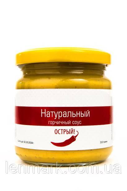 """Натуральный горчичный острый соус ТМ """"Вкусная Премия"""" с перцем халапеньо, 210 г"""