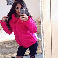Куртка Спортивная тёплая высокая стойка малиновая +