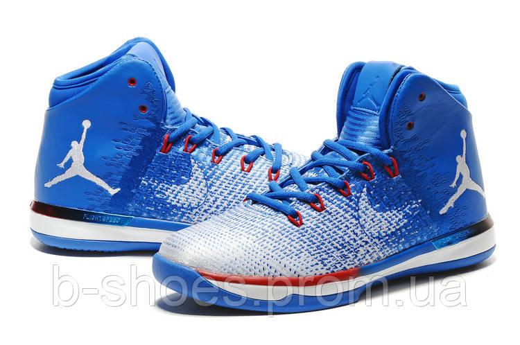 Мужские баскетбольные кроссовки  Air Jordan  31 (Blue/White/Red)