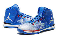 Мужские баскетбольные кроссовки  Air Jordan  31 (Blue/White/Red) , фото 1