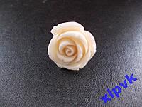 Кольцо Белый Коралл- Роза 25мм,18k GP,ИНДИЯ - №1