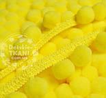 Тасьма з помпонами 20 мм жовтого кольору (Польща), фото 2