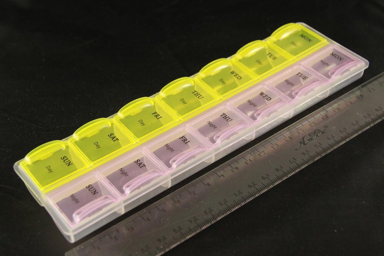Органайзер для бісеру 14 поділок кольоровий