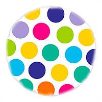 """Фольгированный шар с рисунком """"Цветной горох"""""""