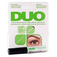 Клей для накладных ресниц Duo для чувствительных глаз Brush on Striplash Adhesive Прозрачный