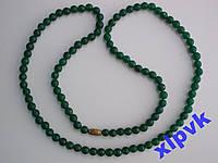 Ожерелье-Green Emerald-Зел.Жадеит 6мм-67 см-ИНДИЯ