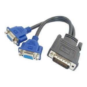 Кабель переходник DMS-59 - VGA для видеокарт на 2 монитора