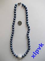 Ожерелье Темно- Синий Жемчуг--8-12 мм-Австралия