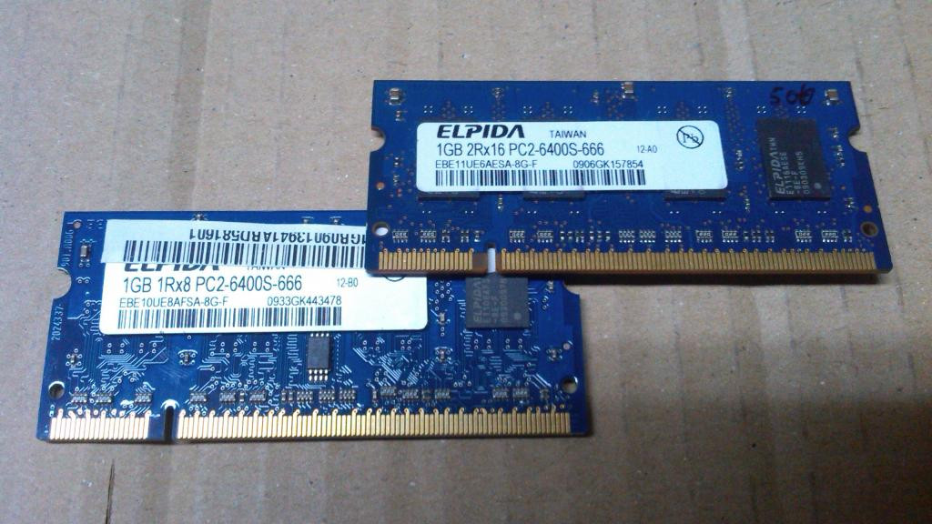 Модуль памяти Elpida DDR2 1Gb PC2-6400 ноутбук ОЗУ
