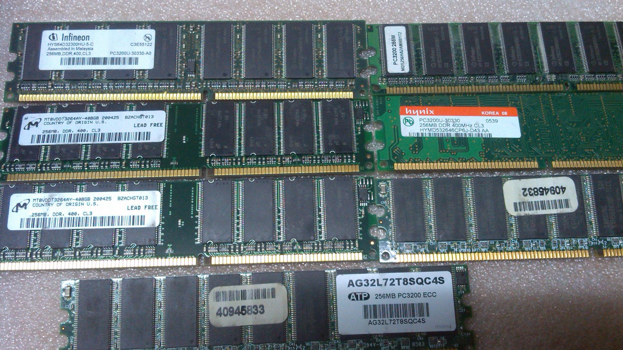 Память DDR 256Mb PC-3200 400MHz INTEL+AMD Гарантия