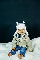 Детская зимняя шапка (набор) для малышей БРУНО оптом размер 42-44-46, фото 1
