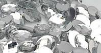 Камень клеевой овальный  13*18 мм белый