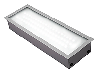 Светодиодный светильник LEDEFFECT 33Вт Грильято Текстура 1200х200мм
