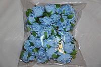 Пион искусственный  голубой (букет) 2015-1-3-1