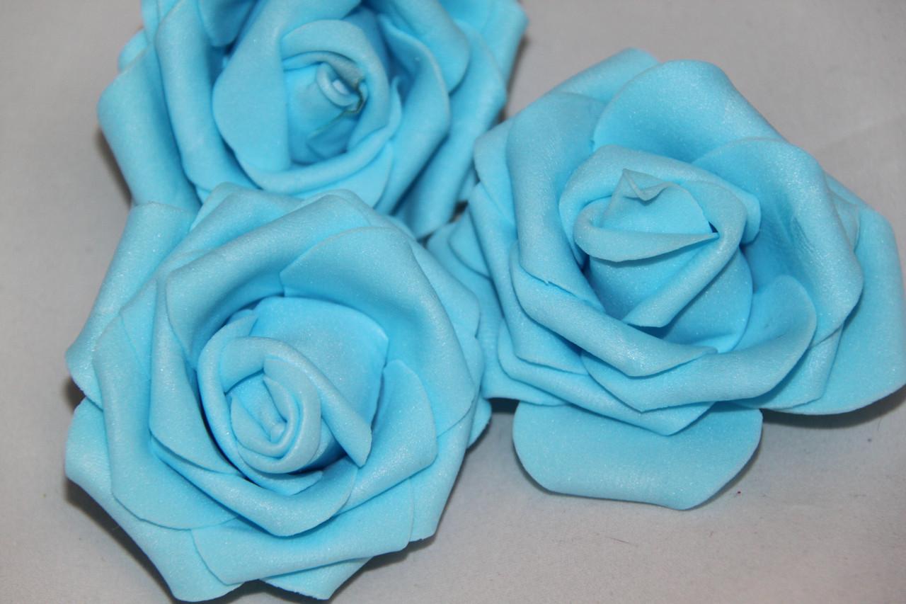 Роза искусственная большая голубая 2016-1-16-1
