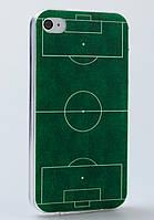 Чехол силиконовый с заглушками для iPhone 4/4S Football Field