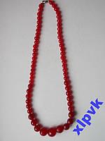 Ожерелье RED RUBY-Красный Жадеит,.Грани,ИНДИЯ