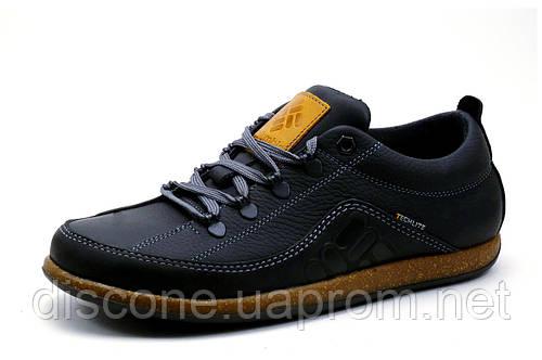 Туфли Columbia Techlite, мужские, спортивные, натуральная кожа, черные