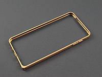 Бампер металл для Samsung Galaxy A7 2016 A710 золотистый
