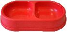 Миска двойная №1  Кристель  0.3л/0.3л