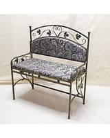 Небольшой стильный диван кованый с мягкой спинкой ДС5