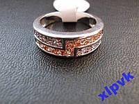 Кольцо Морганиты и Белые Сапфиры-17.5 р-925-ИНДИЯ