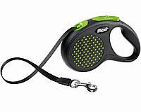 Поводок-рулетка Flexi DESIGN (Флекси Дизайн) Tape М лента 5 м для собак  до 25 кг ( цвет в ассортименте ), фото 1