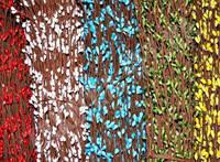 Веточка вербы с почками (голубая)