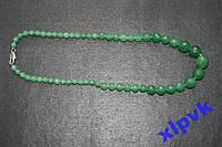 Ожерелье красивые изумруды .Ограненные ,6-14мм,18к GP-ИНДИЯ