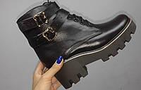 Женские осенние ботинки на флисе от TroisRois из натуральной турецкой кожи