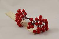 Калина  искусственная красная 0,8 см