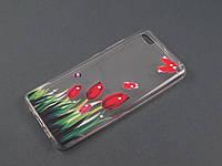 Чехол Lucent для Xiaomi Mi5 Mi5s прозрачный принт Тюльпаны