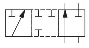 На фото показа схема гидрораспределителя ВЕ10.573, РХ10.573, 1РЕ10.573, РЕ10.3.573, ВЕ10.573/31, ВЕ10.573/41