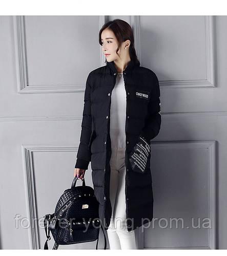 Пальто демисезон  черное