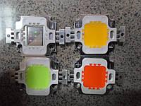 Светодиод 10ватт(w,вт), 8 шт. в лоте, цветные