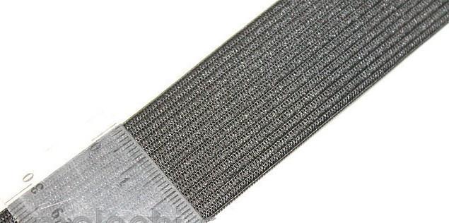 Резинка поясная 3 см чёрная